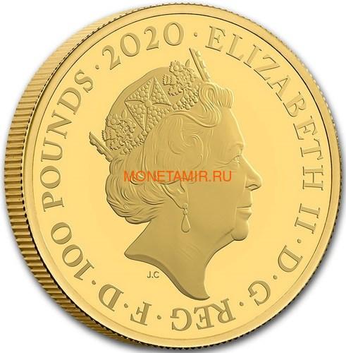 Великобритания 100 фунтов 2020 Джеймс Бонд (GB 100£ 2020 James Bond 1oz Gold Proof Coin).Арт.65 (фото, вид 2)