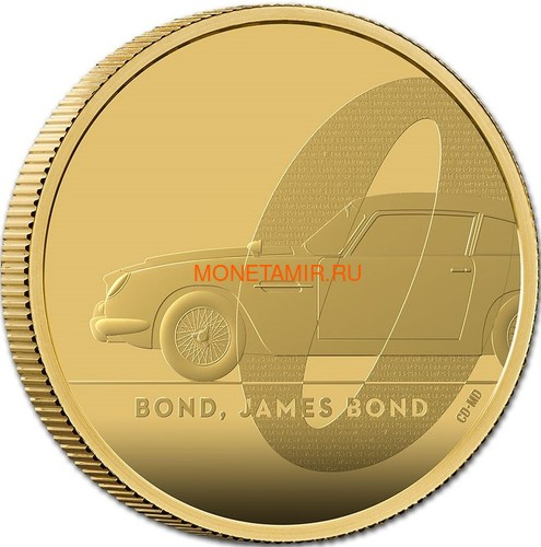 Великобритания 200 фунтов 2020 Джеймс Бонд (GB 200£ 2020 James Bond 2oz Gold Proof Coin).Арт.65 (фото, вид 1)