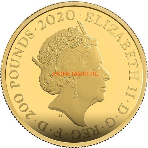 Великобритания 200 фунтов 2020 Джеймс Бонд (GB 200£ 2020 James Bond 2oz Gold Proof Coin).Арт.65 (фото, вид 2)
