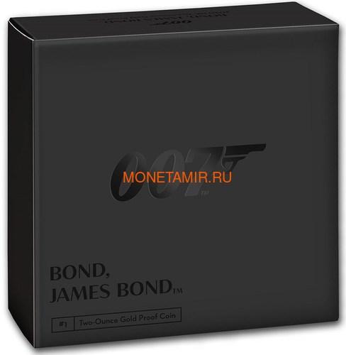 Великобритания 200 фунтов 2020 Джеймс Бонд (GB 200£ 2020 James Bond 2oz Gold Proof Coin).Арт.65 (фото, вид 3)
