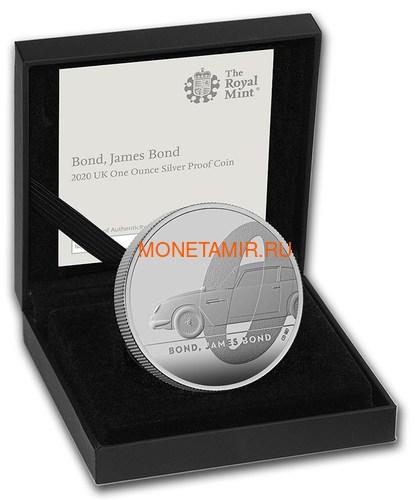 Великобритания 2 фунта 2020 Джеймс Бонд (GB 2£ 2020 James Bond 1oz Silver Proof Coin).Арт.65 (фото, вид 3)