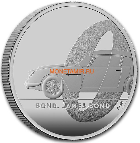 Великобритания 2 фунта 2020 Джеймс Бонд (GB 2£ 2020 James Bond 1oz Silver Proof Coin).Арт.65 (фото, вид 1)