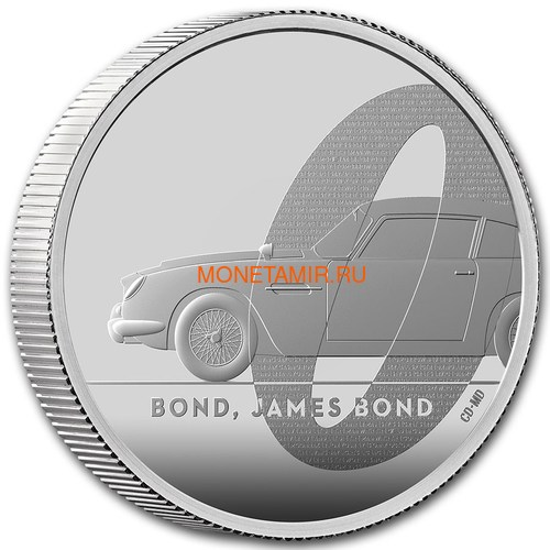 Великобритания 5 фунтов 2020 Джеймс Бонд (GB 5£ 2020 James Bond 2oz Silver Proof Coin).Арт.65 (фото, вид 1)