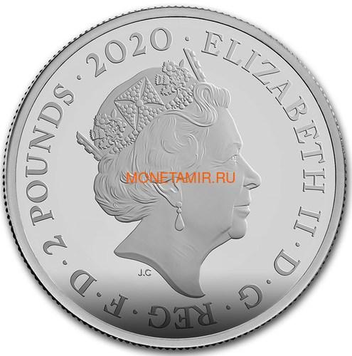 Великобритания 5 фунтов 2020 Джеймс Бонд (GB 5£ 2020 James Bond 2oz Silver Proof Coin).Арт.65 (фото, вид 2)
