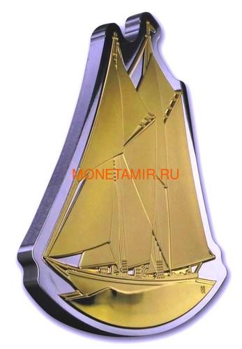 Канада 50 долларов 2020 Шхуна Блюноуз Реальная Форма (Canada 50$ 2020 Bluenose Real Shapes Silver Coin).Арт.88 (фото, вид 1)