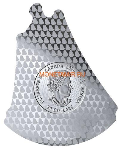 Канада 50 долларов 2020 Шхуна Блюноуз Реальная Форма (Canada 50$ 2020 Bluenose Real Shapes Silver Coin).Арт.88 (фото, вид 2)