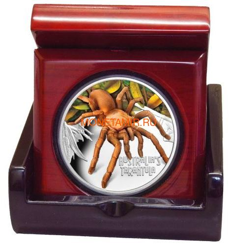 Тувалу 1 доллар 2020 Тарантул Паук серия Смертельно Опасные (Tuvalu 1$ 2020 Deadly and Dangerous Tarantula 1oz Silver Coin).Арт.92 (фото, вид 2)