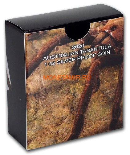 Тувалу 1 доллар 2020 Тарантул Паук серия Смертельно Опасные (Tuvalu 1$ 2020 Deadly Dangerous Tarantula 1oz Silver Coin).Арт.88 (фото, вид 5)