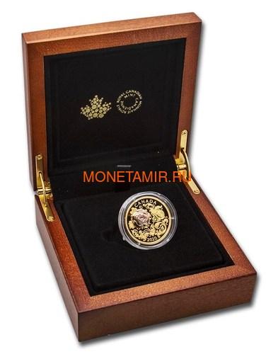 Канада 200 долларов 2020 Роза Королева Елизавета (Canada 200$ 2020 The Queen Elizabeth Rose 1 oz Gold Coin).Арт.85 (фото, вид 3)