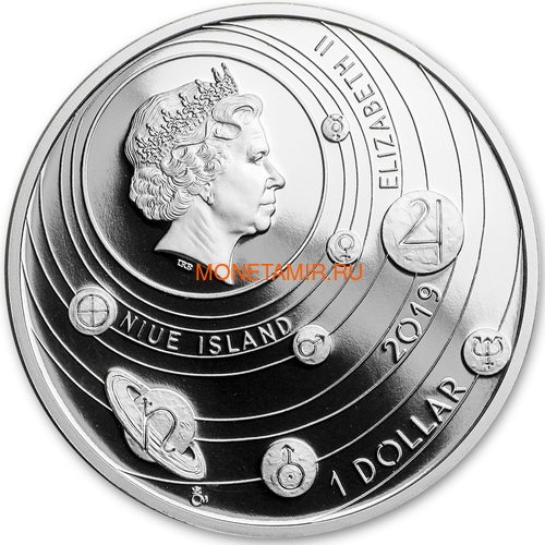Ниуэ 1 доллар 2020 Солнечная Система Меркурий (Niue 1$ 2020 Solar System Mercury 1Oz Silver Coin).Арт.CZ/85 (фото, вид 1)