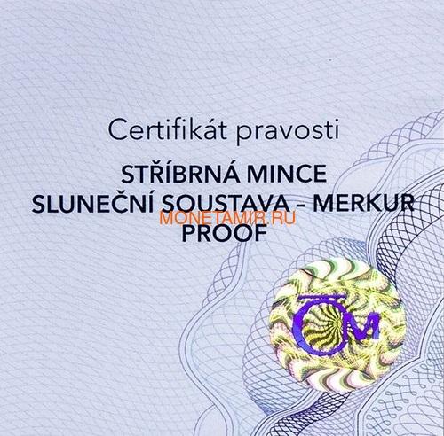 Ниуэ 1 доллар 2020 Солнечная Система Меркурий (Niue 1$ 2020 Solar System Mercury 1Oz Silver Coin).Арт.CZ/85 (фото, вид 3)