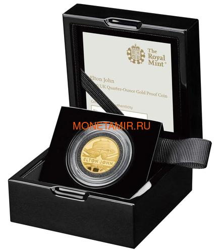 Великобритания 25 фунтов 2020 Элтон Джон Легенды Музыки (GB 25£ 2020 Elton John Music Legends Quarter-Ounce Gold Proof Coin).Арт.82 (фото, вид 2)