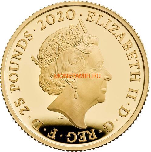 Великобритания 25 фунтов 2020 Элтон Джон Легенды Музыки (GB 25£ 2020 Elton John Music Legends Quarter-Ounce Gold Proof Coin).Арт.82 (фото, вид 1)