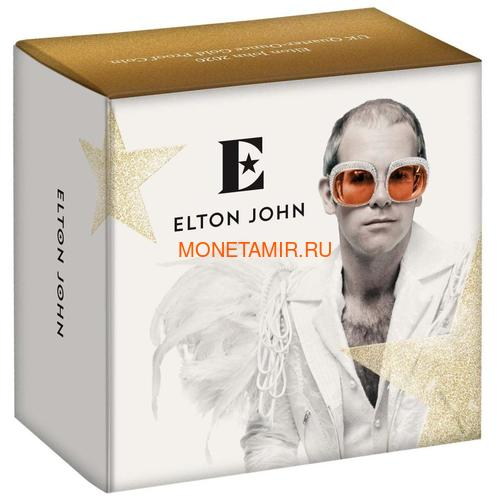 Великобритания 25 фунтов 2020 Элтон Джон Легенды Музыки (GB 25£ 2020 Elton John Music Legends Quarter-Ounce Gold Proof Coin).Арт.82 (фото, вид 3)