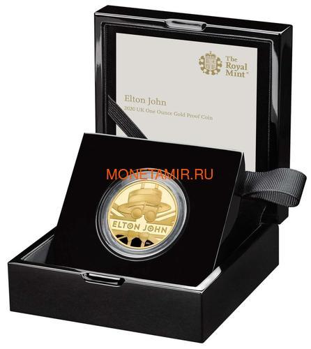 Великобритания 100 фунтов 2020 Элтон Джон Легенды Музыки (GB 100£ 2020 Elton John Music Legends 1oz Gold Proof Coin).Арт.82 (фото, вид 2)
