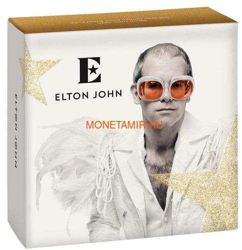 Великобритания 100 фунтов 2020 Элтон Джон Легенды Музыки (GB 100£ 2020 Elton John Music Legends 1oz Gold Proof Coin).Арт.82 (фото, вид 3)