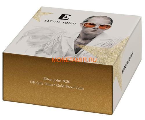 Великобритания 100 фунтов 2020 Элтон Джон Легенды Музыки (GB 100£ 2020 Elton John Music Legends 1oz Gold Proof Coin).Арт.82 (фото, вид 4)