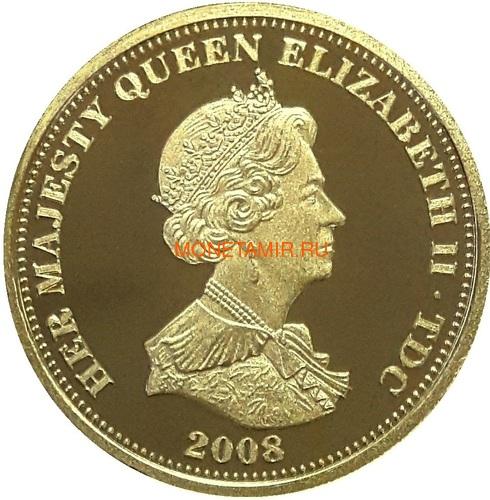 Тристан-да-Кунья 0,5 гинеи 2008 Нельсон Корабль (Tristan da Cunha half guinea 2008 Lord Nelson Ship Gold Proof).Арт.K0,275G (фото, вид 1)