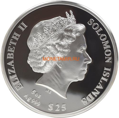 Соломоновы Острова 25 долларов 2021 Пионеры Авиации Уилбер и Орвилл Райт Перламутр (Solomon Isl 25$ 2021 Pioneers of Aviation Mother of Pearl 5oz Silver Coin Proof).Арт.90 (фото, вид 1)