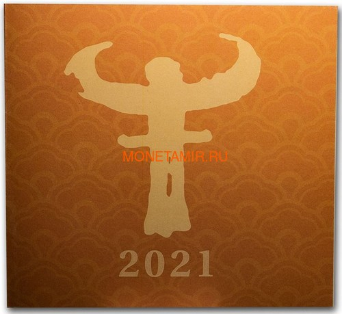 Острова Кука 200 долларов 2021 Год Быка Лунный Календарь Перламутр (Cook Isl 2021 200$ Year of the Ox Mother of Pearl 5Oz Gold Coin Proof).Арт.65 (фото, вид 5)