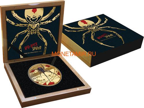 Ниуэ 500 долларов 2020 Красноспинный Паук (Niue 2020 $500 Red-Back Spider Coloured 150th Anniversary 5oz Gold Proof Coin).Арт.90 (фото, вид 2)