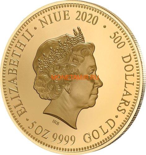 Ниуэ 500 долларов 2020 Красноспинный Паук (Niue 2020 $500 Red-Back Spider Coloured 150th Anniversary 5oz Gold Proof Coin).Арт.90 (фото, вид 1)