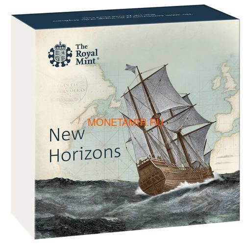 Великобритания 2 фунта 2020 Мейфлауэр Корабль Биметалл (GB 2£ 2020 Mayflower Gold Proof Coin).Арт.90 (фото, вид 3)