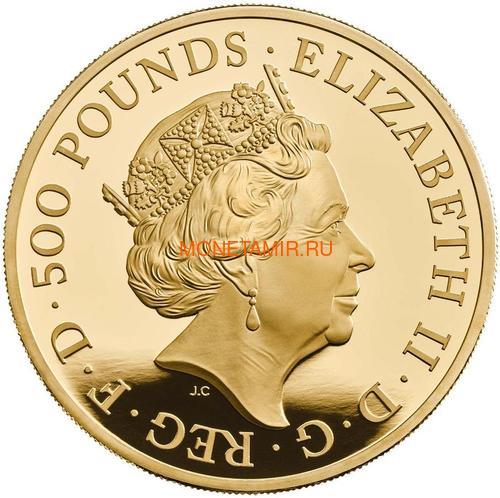 Великобритания 500 фунтов 2020 Британия (GB 500£ 2020 Britannia 5oz Gold Proof Coin).Арт.90 (фото, вид 1)
