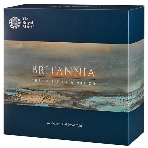 Великобритания 500 фунтов 2020 Британия (GB 500£ 2020 Britannia 5oz Gold Proof Coin).Арт.90 (фото, вид 3)