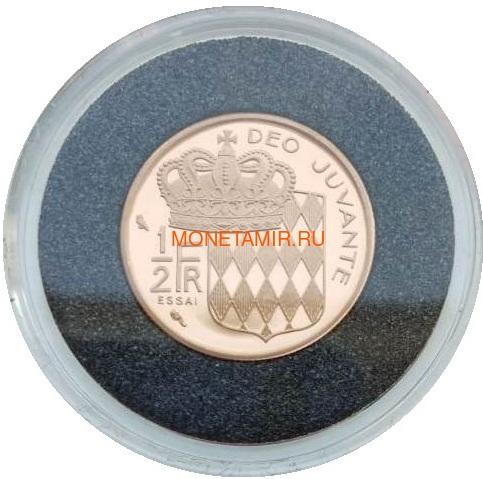 Монако ½ франка 1965 Ранье III Пробник (Monaco ½ Franc 1965 Rainier III ESSAI Gold Coin).Арт.000541145031/K0,55G/90 (фото, вид 1)