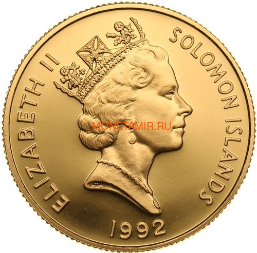 Соломоновы острова 50 долларов 1992 Битва в Коралловом Море Слаб (Solomon Isl 50$ 1992 50th Anniversary of the Battle of the Coral Sea 0,5oz Gold Coin PCGC PR69DCAM).Арт.K1,8G/92 (фото, вид 1)