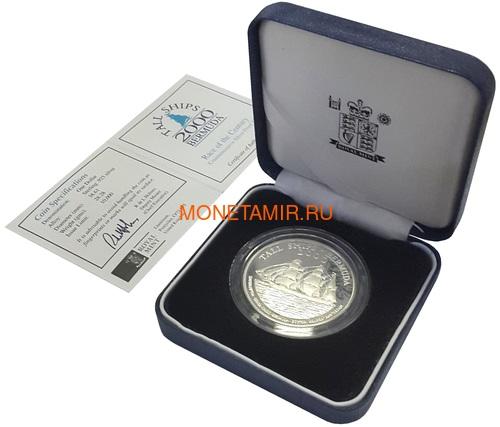 Бермуды 1 доллар 2000 Большой Трехмачтовый Парусный Корабль (Bermuda 1$ 2000 Tall Ships Silver Coin).Арт.000271237223/60 (фото, вид 2)