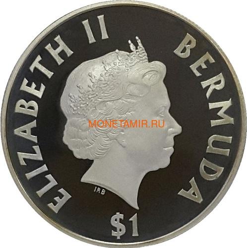Бермуды 1 доллар 2000 Большой Трехмачтовый Парусный Корабль (Bermuda 1$ 2000 Tall Ships Silver Coin).Арт.000271237223/60 (фото, вид 1)