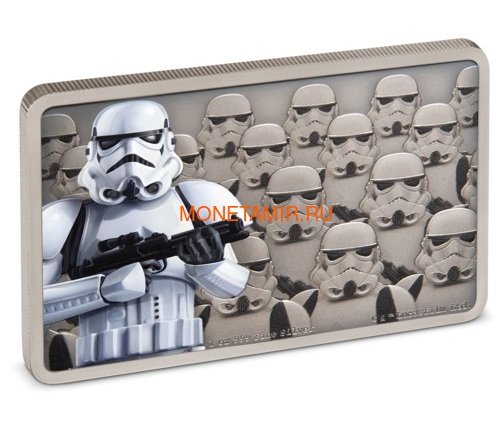 Ниуэ 2 доллара 2020 Звездные Войны Гвардия Империи Штурмовик (Niue 2$ 2020 Star Wars Guards Of The Empire Stormtrooper 1oz Silver Coin).Арт.92 (фото, вид 1)