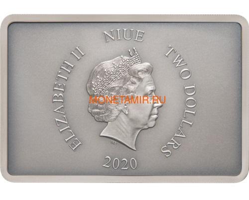 Ниуэ 2 доллара 2020 Звездные Войны Гвардия Империи Штурмовик (Niue 2$ 2020 Star Wars Guards Of The Empire Stormtrooper 1oz Silver Coin).Арт.92 (фото, вид 2)