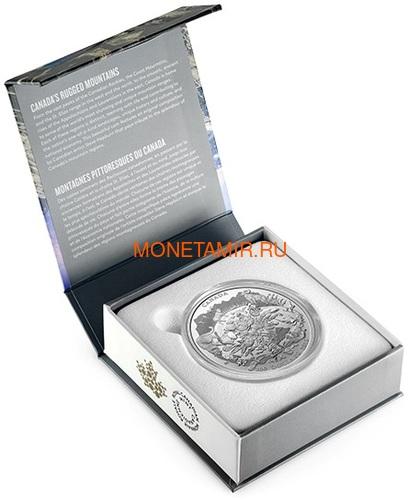 Канада 200 долларов 2015 Канадские Скалистые Горы серия Пейзажи Севера (Canada 200$ 2015 Canada's Rugged Mountains 2oz Silver Coin).Арт.60 (фото, вид 3)