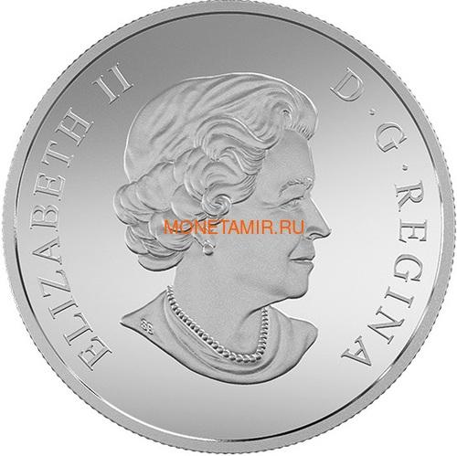 Канада 200 долларов 2015 Канадские Скалистые Горы серия Пейзажи Севера (Canada 200$ 2015 Canada's Rugged Mountains 2oz Silver Coin).Арт.60 (фото, вид 2)