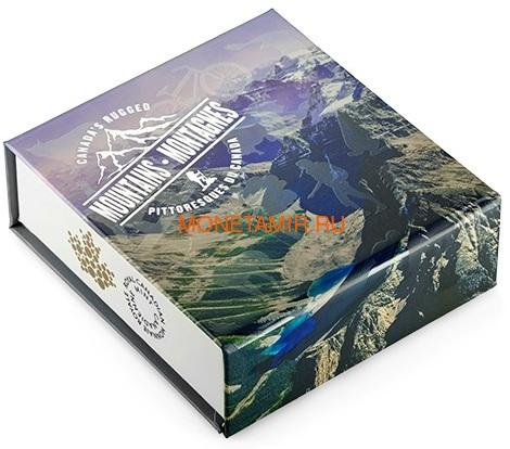 Канада 200 долларов 2015 Канадские Скалистые Горы серия Пейзажи Севера (Canada 200$ 2015 Canada's Rugged Mountains 2oz Silver Coin).Арт.60 (фото, вид 4)