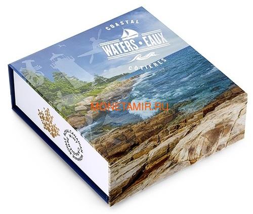 Канада 200 долларов 2015 Прибрежные Воды серия Пейзажи Севера (Canada 200$ 2015 Coastal Waters of Canada 2oz Silver Coin).Арт.001115251074/60 (фото, вид 3)