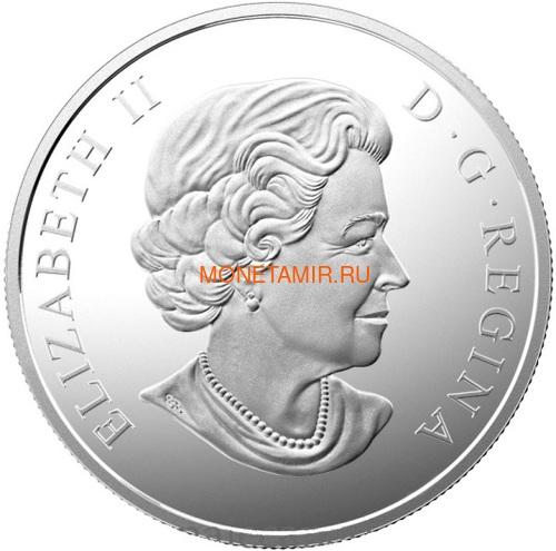 Канада 200 долларов 2015 Прибрежные Воды серия Пейзажи Севера (Canada 200$ 2015 Coastal Waters of Canada 2oz Silver Coin).Арт.001115251074/60 (фото, вид 1)
