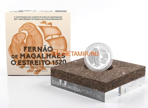 Португалия 7,5 евро 2020 Магелланов Пролив Пингвины Корабль ( Portugal 7,5 Euro 2020 The Passage of the Strait 1520 Silver Coin ).Арт.92 (фото, вид 2)