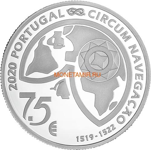Португалия 7,5 евро 2020 Магелланов Пролив Пингвины Корабль ( Portugal 7,5 Euro 2020 The Passage of the Strait 1520 Silver Coin ).Арт.92 (фото, вид 1)