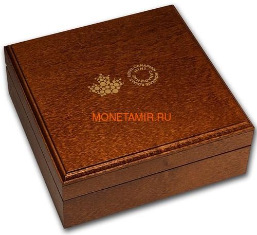 Канада 200 долларов 2020 Бриллиант Черная Метка Круг ( Canada 200$ 2020 Forevermark Black Label Round Diamond 1oz Gold Coin ).Арт.92 (фото, вид 4)