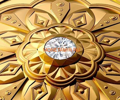 Канада 200 долларов 2020 Бриллиант Черная Метка Круг ( Canada 200$ 2020 Forevermark Black Label Round Diamond 1oz Gold Coin ).Арт.92 (фото, вид 1)