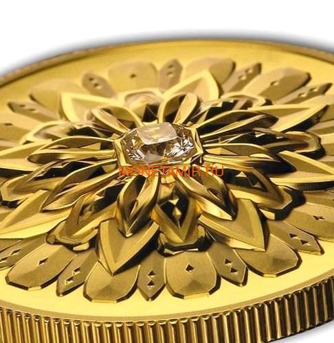 Канада 200 долларов 2019 Бриллиант Черная Метка Квадрат ( Canada 200$ 2019 Forevermark Black Label Square Diamond 1oz Gold Coin ).Арт.92 (фото, вид 1)