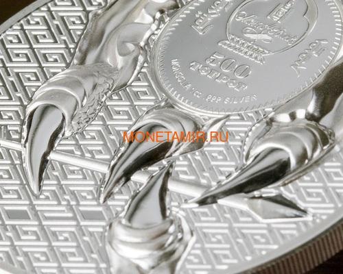 Монголия 500 тугриков 2020 Величественный Орел ( Mogolia 500T 2020 Majestic Eagle 1oz Silver Coin ).Арт.92 (фото, вид 3)