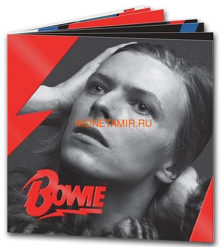 Великобритания 1 фунт 2020 Дэвид Боуи Легенды Музыки ( GB 1£ 2020 David Bowie Music Legends Half oz Silver Proof Coin ).Арт.92E (фото, вид 3)