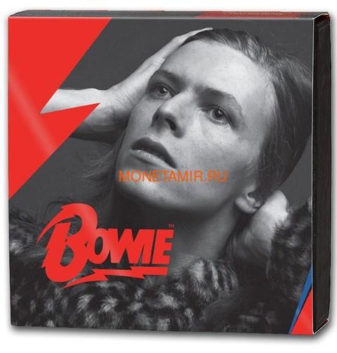 Великобритания 1 фунт 2020 Дэвид Боуи Легенды Музыки ( GB 1£ 2020 David Bowie Music Legends Half oz Silver Proof Coin ).Арт.92E (фото, вид 4)