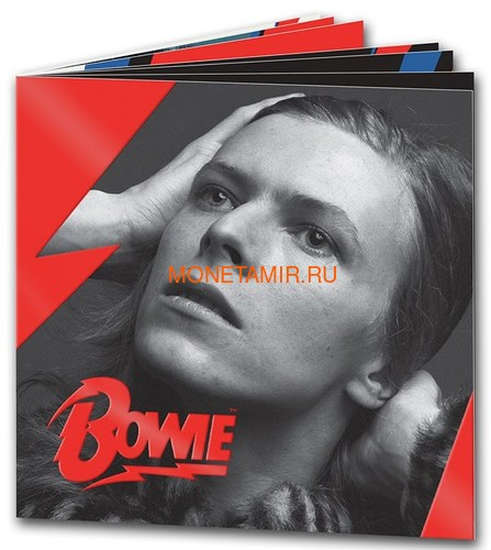 Великобритания 2 фунта 2020 Дэвид Боуи Легенды Музыки ( GB 2£ 2020 David Bowie Music Legends 1oz Silver Proof Coin ).Арт.92E (фото, вид 4)