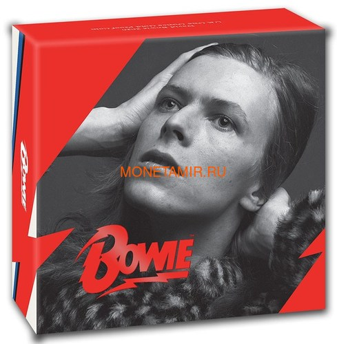 Великобритания 100 фунтов 2020 Дэвид Боуи Легенды Музыки ( GB 100£ 2020 David Bowie Music Legends 1oz Gold Proof Coin ).Арт.92E (фото, вид 3)
